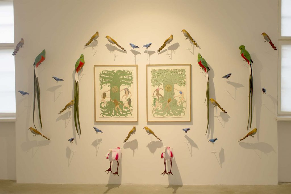 Eduardio Sarabia, Sacred Ceiba Tree @Galerie Michael Fuchs