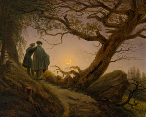 Two Men Contemplating the Moon Department: European Paintings Culture/Period/Location: HB/TOA Date Code: 10 Working Date: ca. 1825-30 photography by mma, DT4626.tif touched by film and media (jnc) 10_13_08